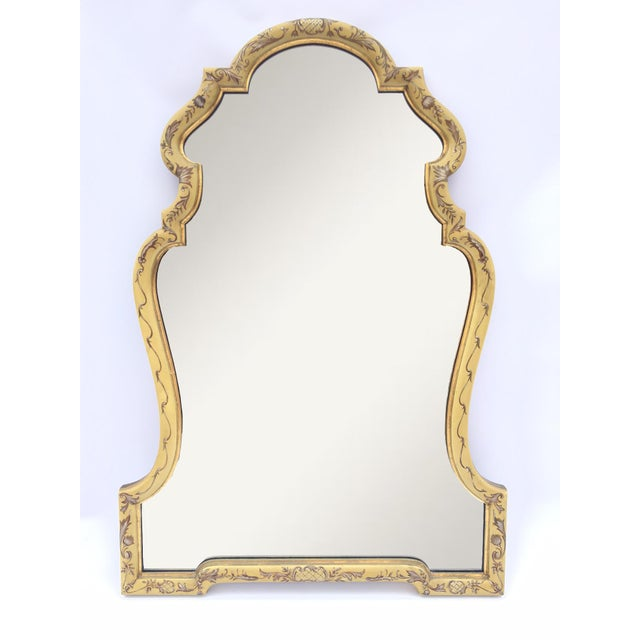 Image of Baroque Gold Hand Painted Mirror by La Barge