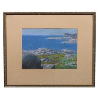 1944 Ocean View Pastel Painting