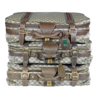 Authentic Vintage Gucci Suitcases - Set of 3