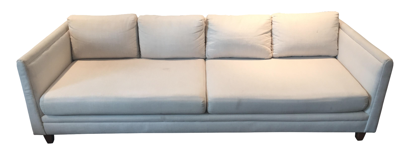 Baker Furniture Mid Century Off White Couch