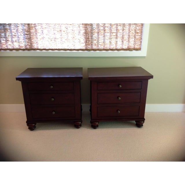 Restoration Hardware Camden Style Nightstands - A Pair - Image 4 of 6