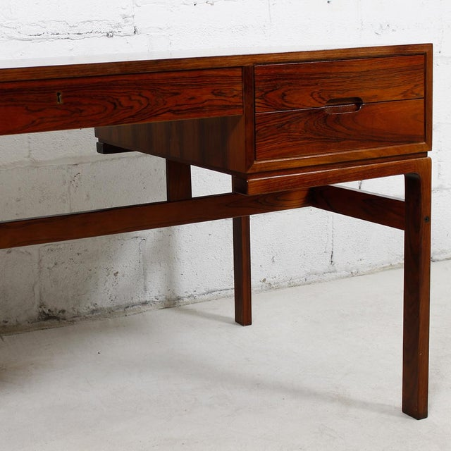 Danish Modern Rosewood Desk by Arne Wahl Iversen - Image 4 of 7