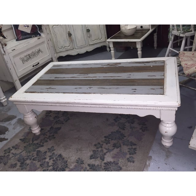 Vintage French Provincial White Coffee Table - Image 4 of 11