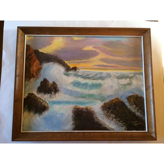 """Sunset on the Ocean"" Painting - Image 2 of 5"