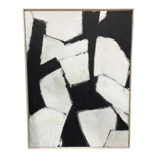 Kimberly Moore Black and White Abstract Painting