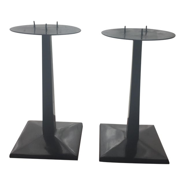 Pottery barn arts crafts style candle holders a pair for Arts and crafts candle sconces