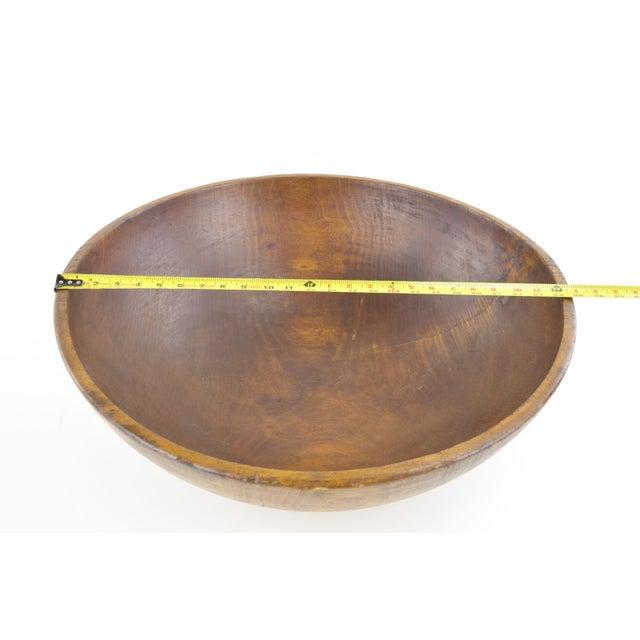 "Huge 24"" Diameter Antique Wooden Bowl - Image 4 of 7"