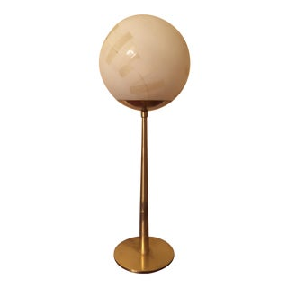 Hans-Agne Jakobsson Brass and Glass Table Lamp