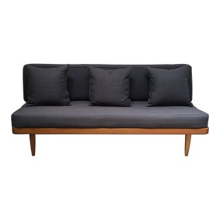 Mid-Century Gray Upholstered Daybed