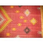 Image of Vintage Red & Yellow Kilim Rug - 8'8'' X 11'8''