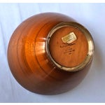 Image of Richard Hudson Mid Century Wood & Silver Bowl