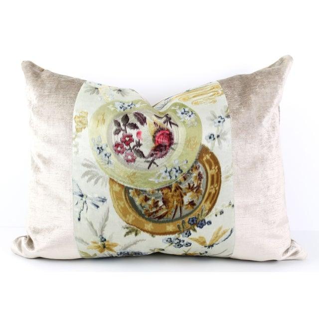 Vintage French Velvet Pillow - Image 2 of 4