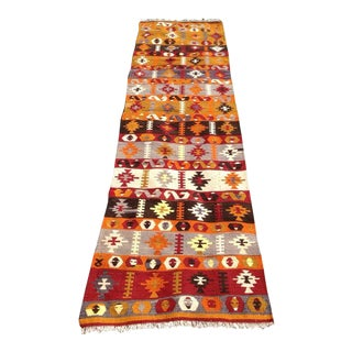 "Vintage Turkish Kilim Runner - 2'6"" X 9'10"""