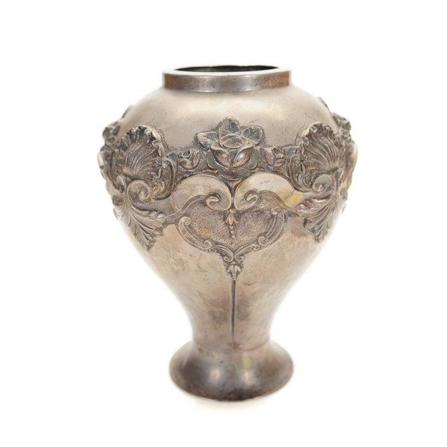 Topazio 19th Century Silver Repousse Vase - Image 4 of 8