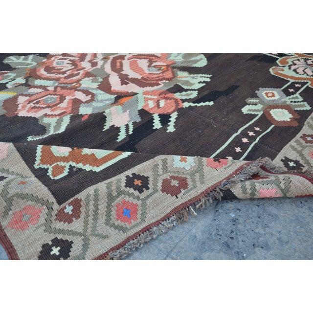 Turkish Rug Austin: Vintage Floral Turkish Kilim Rug