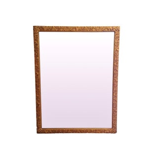 Rectangular Carved Gold Mirror
