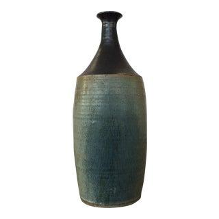 Studio Pottery Blue Bottle Vase