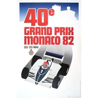 Monaco Grand Prix 1982-1991 Lithograph