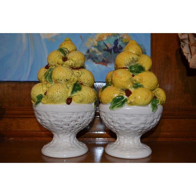 Mid Century Italian Majolica Lemon Topiary - Image 10 of 11