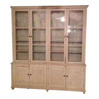 Gustavian Book Case Cabinet