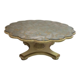 Hollywood Regency Scallop Table