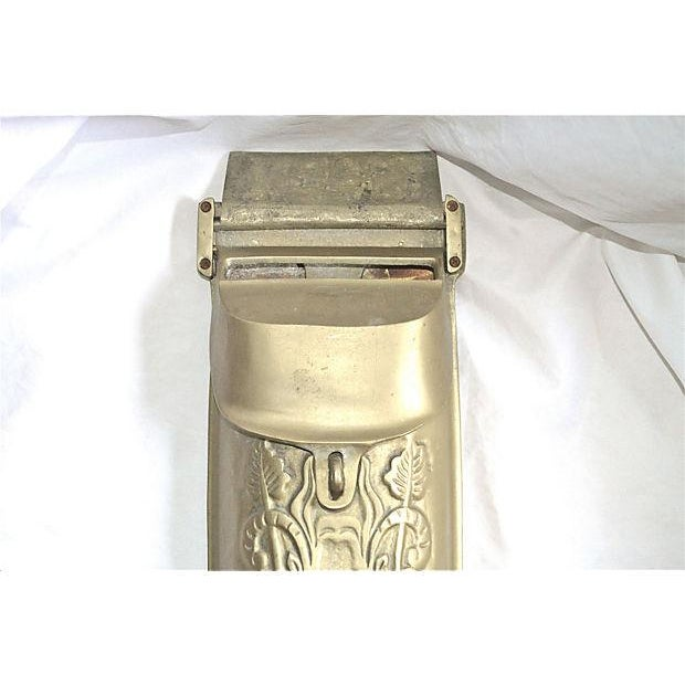Vintage Brass Mailbox With Peephole - Image 9 of 11