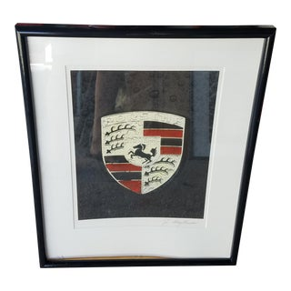 Signed Litho of Porche Logo