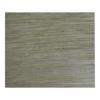 Schumacher Grasscloth Wallpaper 'Akina Strie' in Olive Color