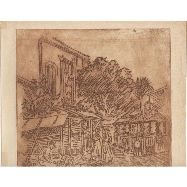 David Rosenthal Etching - El Pueblo de Los Angeles - Image 3 of 4