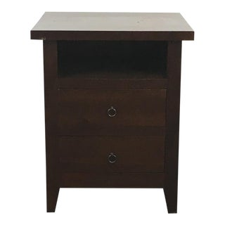 Create & Barrel Laminate Wood Two-Drawer Nightstand