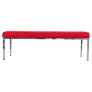Knoll Polished Steel Bench