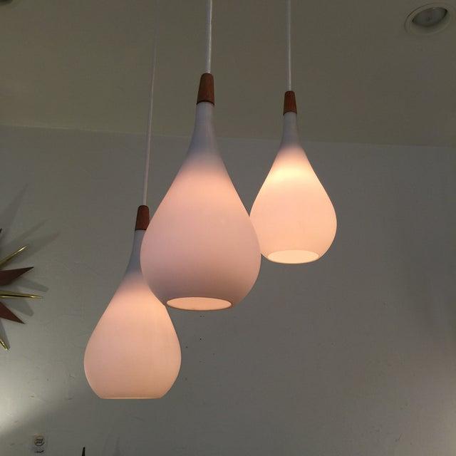 Laurel Walnut 3 Pendant Light Fixture - Image 4 of 11
