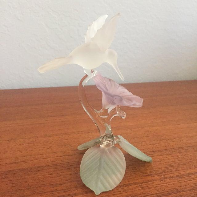 Image of Hummingbird Blown Glass Figurine