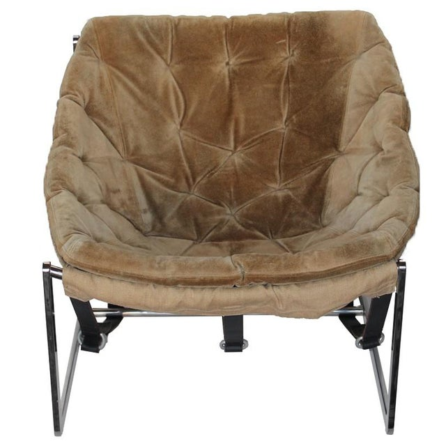 1970s Chrome Bucket Chair - Image 1 of 4