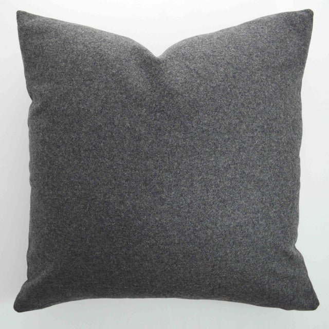 Italian Gray Sustainable Wool Pillow - Image 6 of 6