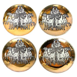 Fornasetti Roman Charriot Coasters - Set of 4