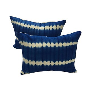 African Indigo Tie-Dye Pillows - A Pair