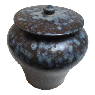 Blue Oxidized Ginger Jar