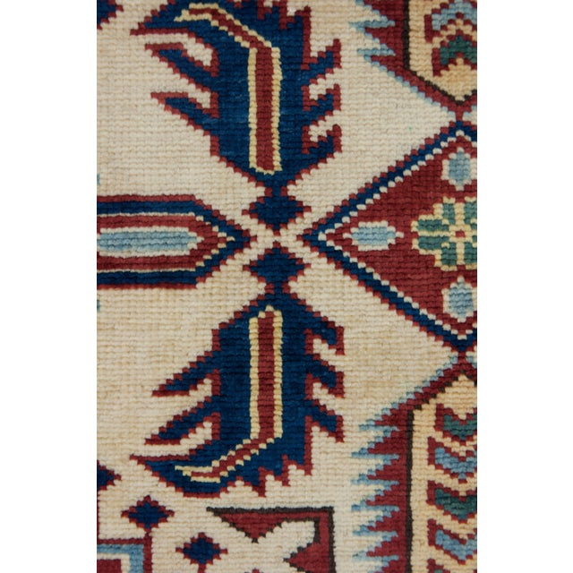 """New Traditional Hand Knotted Area Rug - 4'4"""" x 6' - Image 3 of 3"""