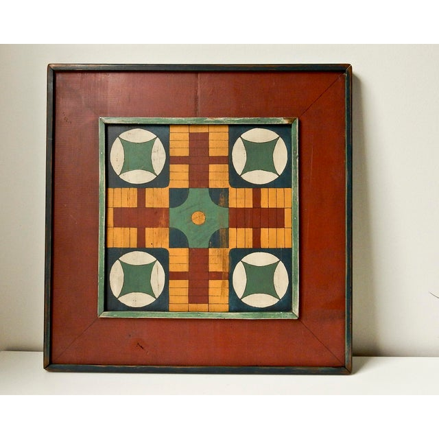 Hand Painted Parcheesi & Checkers Gameboard - Image 2 of 6