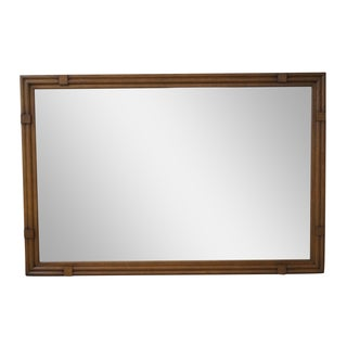 Drexel Plaudit Mid-Century Walnut Frame Mirror