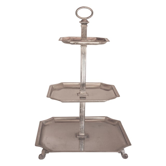 Image of Godinger Silverplate Tiered Desert Tray