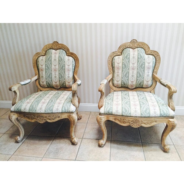 Traditional French Accent Chairs - A Pair - Image 2 of 5
