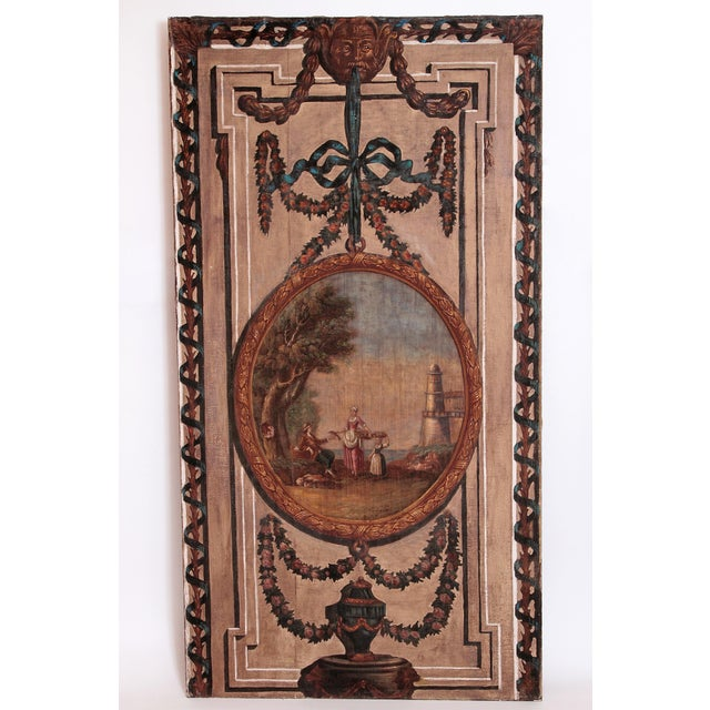 A Set of Five Large Hand-Painted Trompe l'Oeil Wall Panels - Image 2 of 11