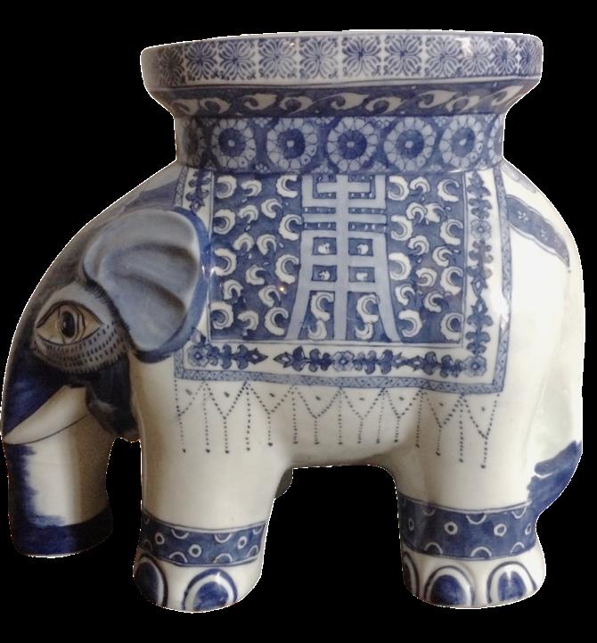 Blue u0026 White Ceramic Elephant Stool  sc 1 st  Chairish & Blue u0026 White Ceramic Elephant Stool | Chairish islam-shia.org