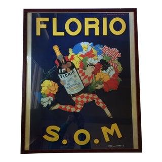 "Vintage 1950's ""Florio s.o.m."" Italian Framed Print"