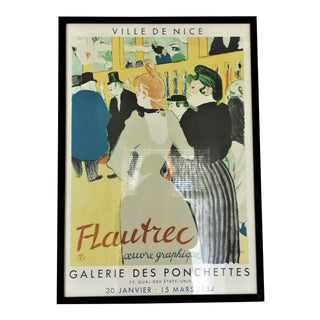 Framed Henri Toulouuse Lautrec French Lithograph