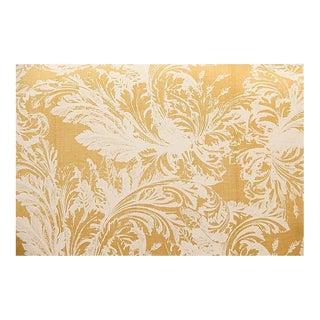 Travers Gold & White Foliage Fabric - 1 Yard