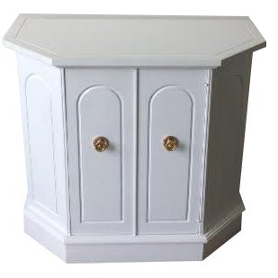 White Hollywood Regency Style Cabinet