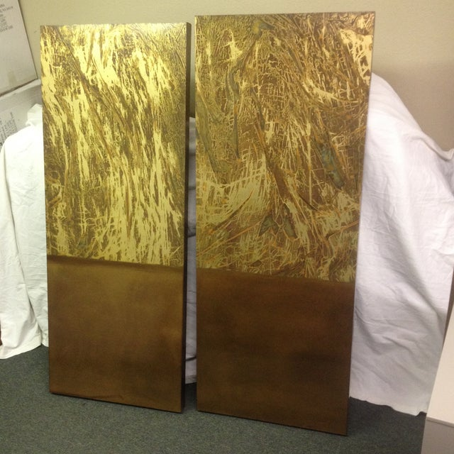 Copper Art Work Panels - A Pair - Image 2 of 9